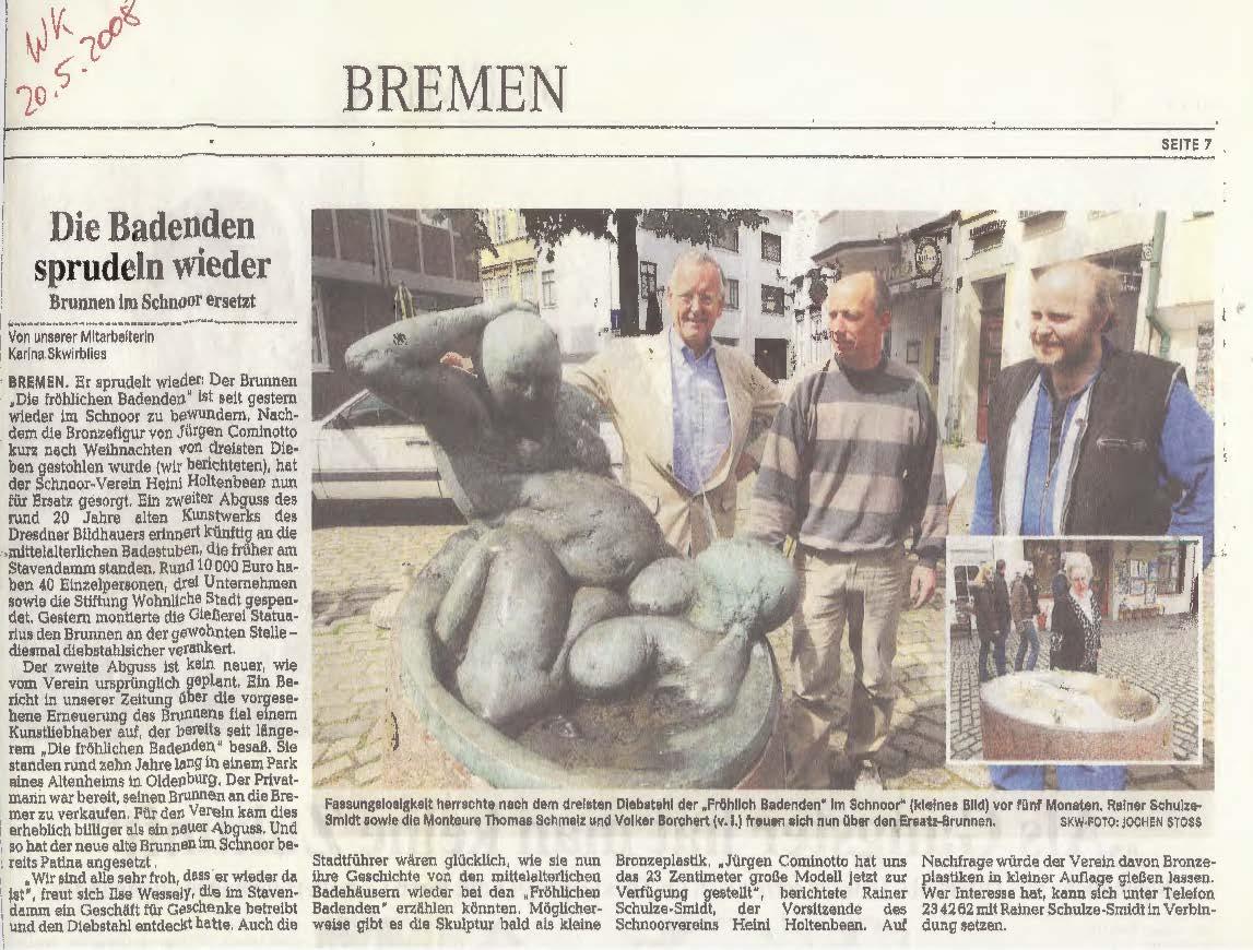 Brunnen aus Bronze im Schnoor - Jürgen Cominotto