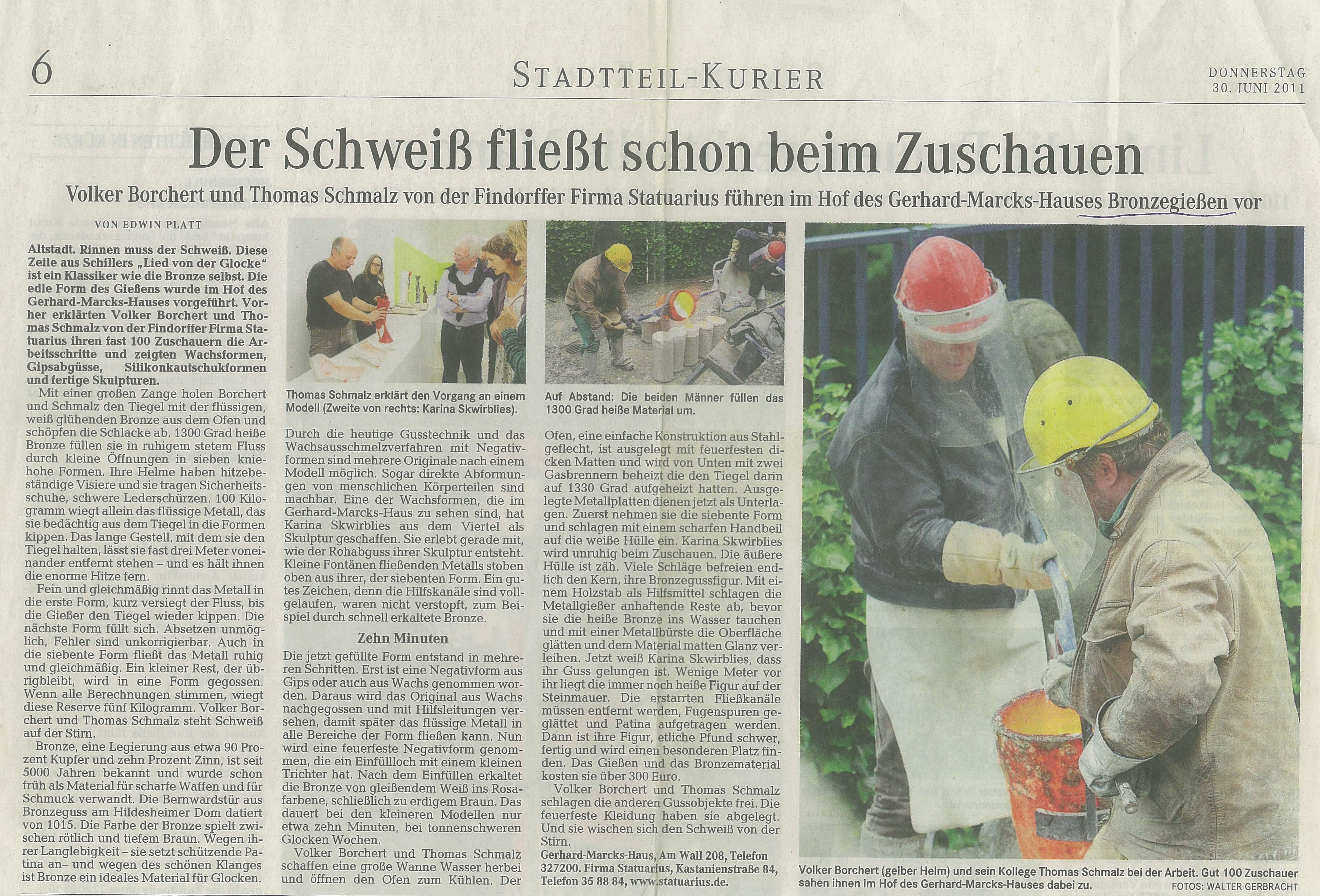 Pressebericht Statuarius Weser Kurier