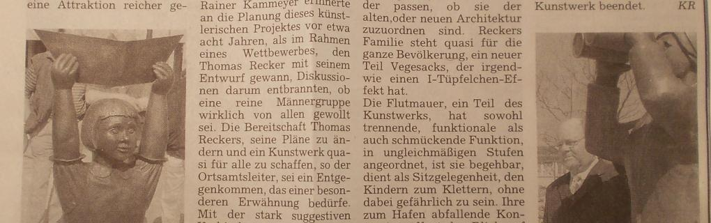 """Pressebericht, """"Kulturstriptease"""" am Hafen, Das BLV"""