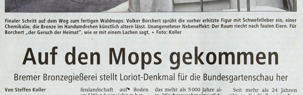 Pressebericht Auf den Mops gekommen, Weser-Kurier, Kreissblatt