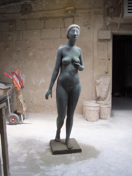 Restauration Bronzeskulptur Gerhard Marcks, Guss von Barth in Rinteln