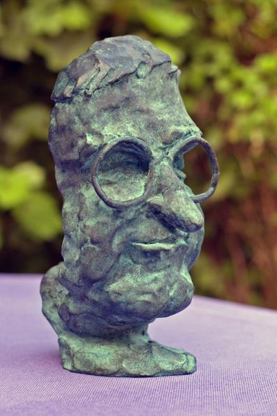 Bronzeskulptur Peter Carlsen, Portrait Peter August Johansen - Bronzeabgu  ss von einer Terracotta