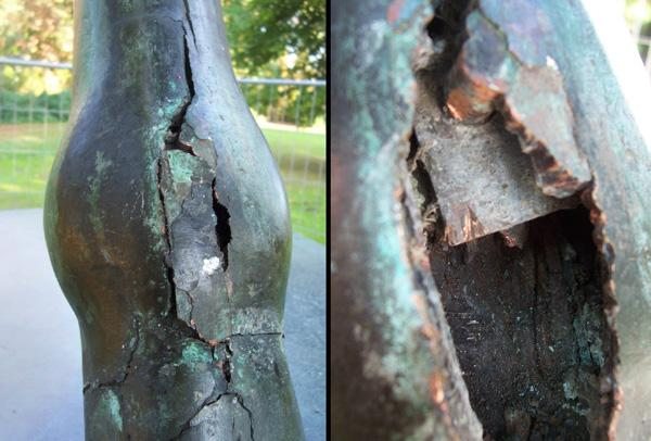 Restauration von Bronzeskulptur