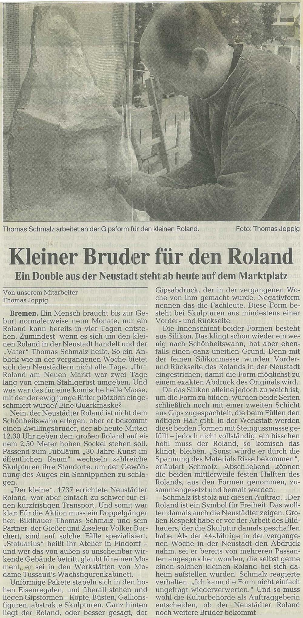 Bronzeskulptur Roland