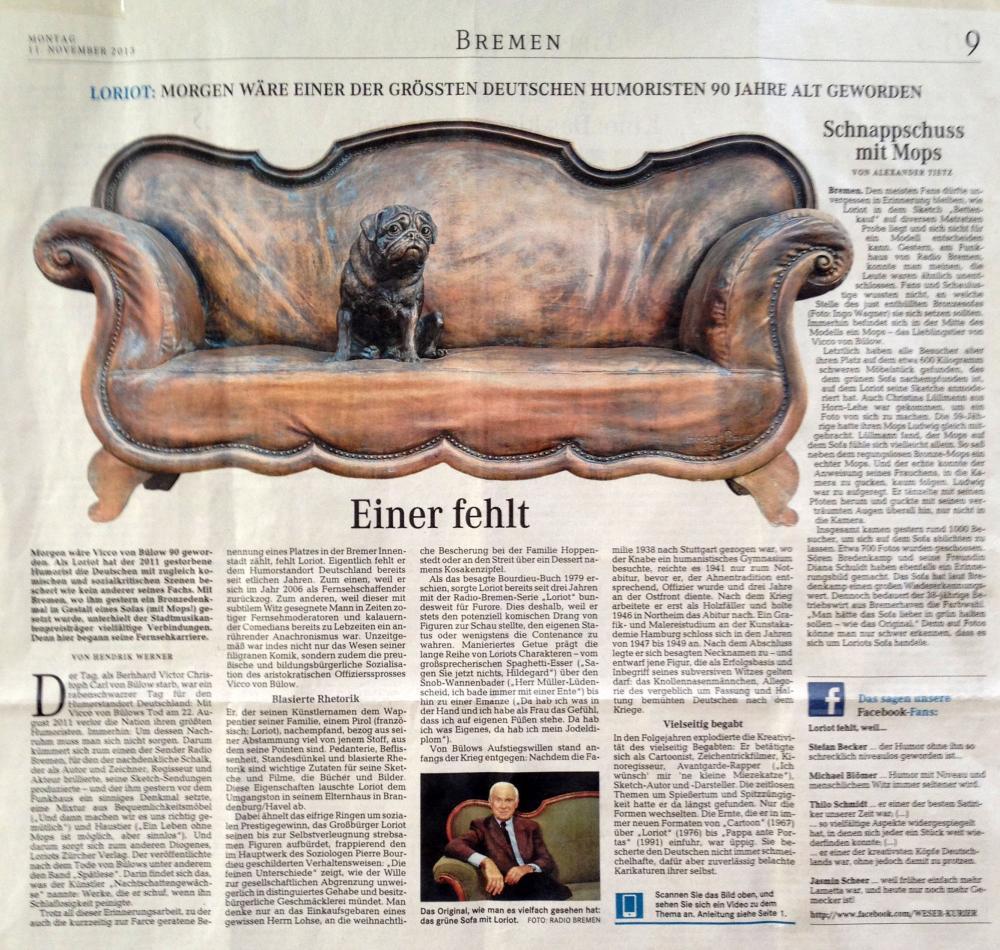 Pressebericht Einer fehl, Weser-Kurier